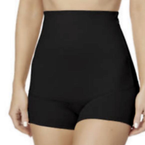 NEW Jaclyn Smith High Waist Briefs Shaper Shapewear BLACK Slimming S-2X